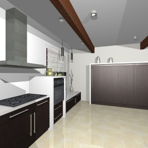 Iebūvējamās virtuves vizualizācija