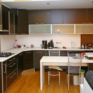 Iebūvējamā virtuve, krāsa tumši brūna