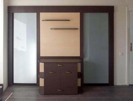 Starpistabu bīdāmas durvis bez profiliem (piekaramais mehānisms)